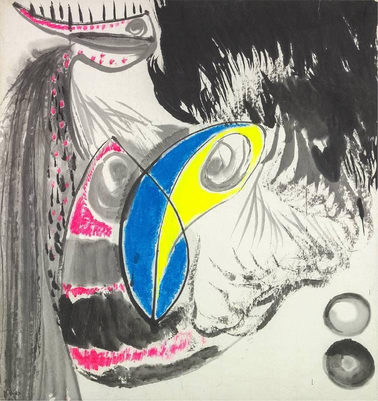 趙春翔 無題 1972 彩墨、紙本 97.3×90.5cm
