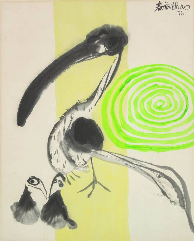 趙春翔 春暉 1976 水墨、壓克力、紙本 61×50cm