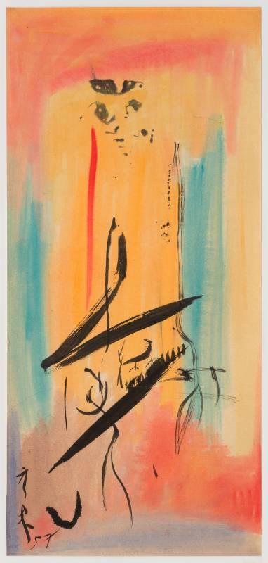 李元佳 無題 約1958 油彩、紙本 78.3×36cm