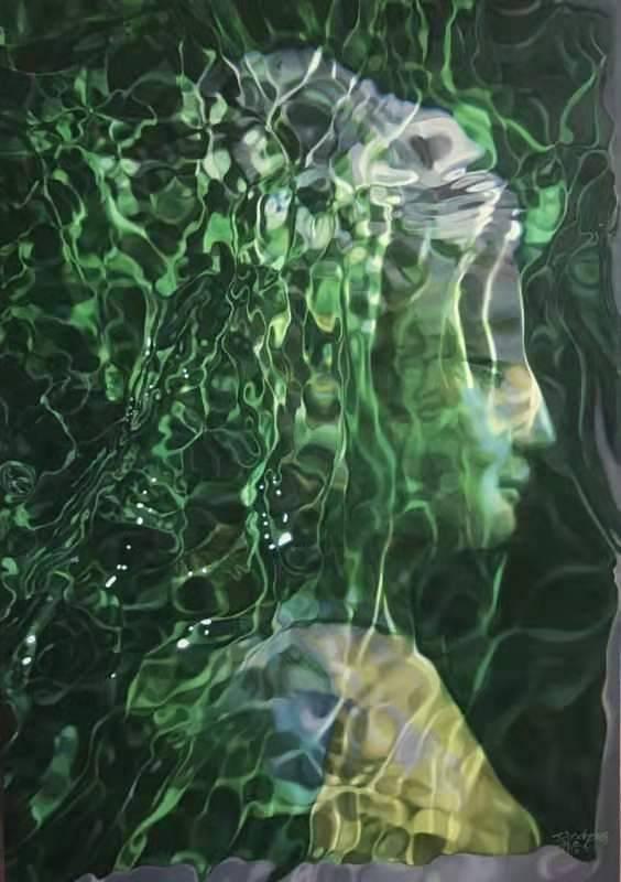 陶冬冬 Tao Dong Dong   水般若  Water Prajna  140×100cm  布面油畫  Oil on Canvas  2018