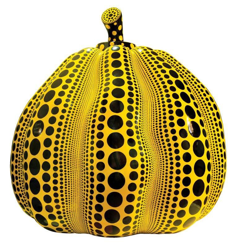 草間彌生Yayoi Kusama,《Pumpkin》,20x120x117(h)cm,FRP Paint,2007。