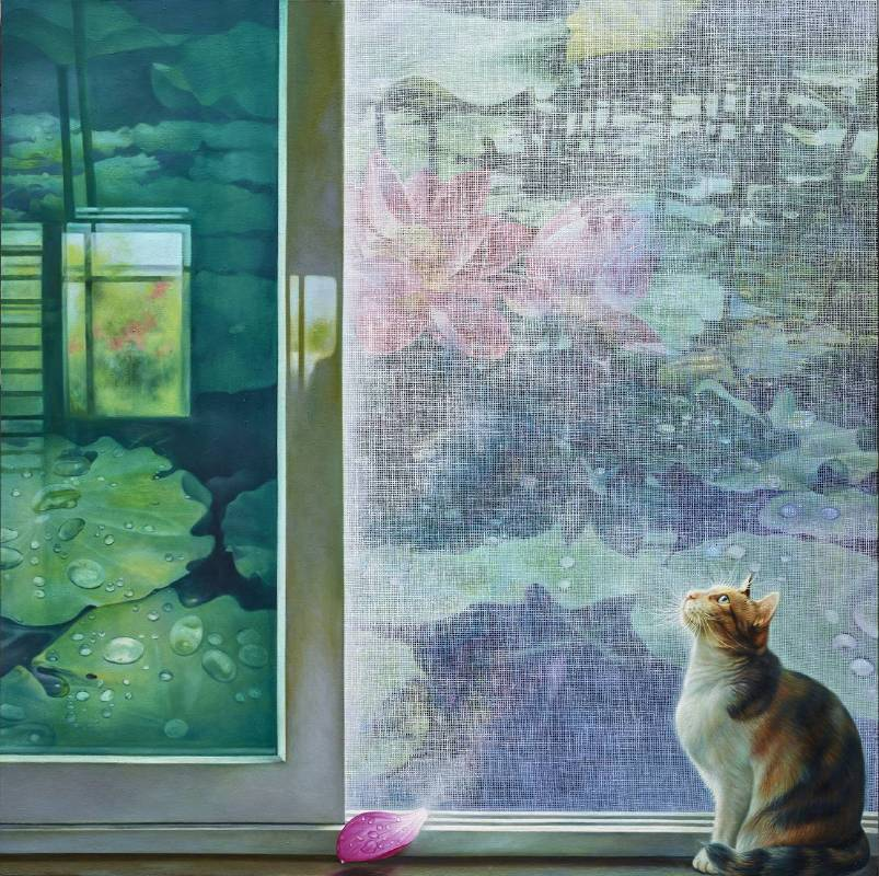 Jang Tarng Kuh,《Time Glaze》,120x120cm,Oil on Canvas,2019 。