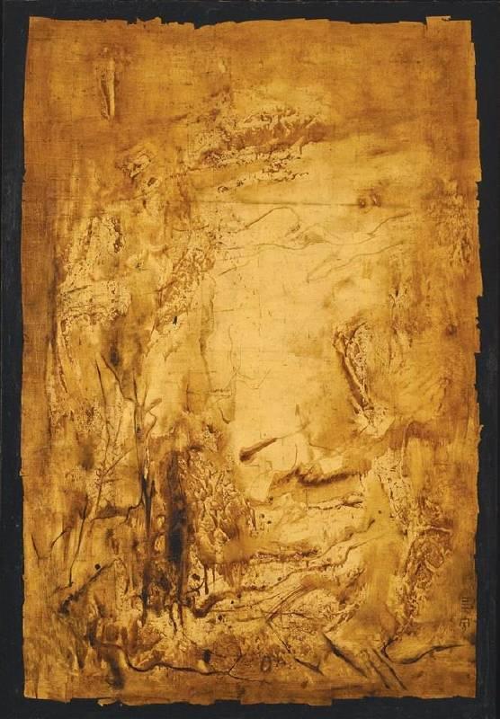 鍾泗濱  自然 1965 綜合媒材畫布 148×101.5cm  CHEONG Soo Pieng Nature 1965 Mixed media on canvas 148×101.5cm
