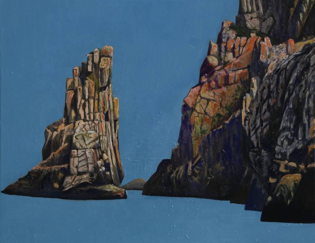 曹松清 《礁石一》 50F(91×116.5cm) 油彩、畫布 2019