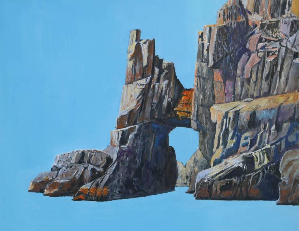 曹松清 《礁石二》 50F(91×116.5cm) 油彩、畫布 2019