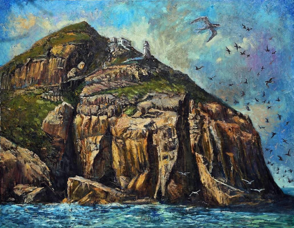 曹松清 《海島》 50F(91×116.5cm) 油彩、畫布 2018