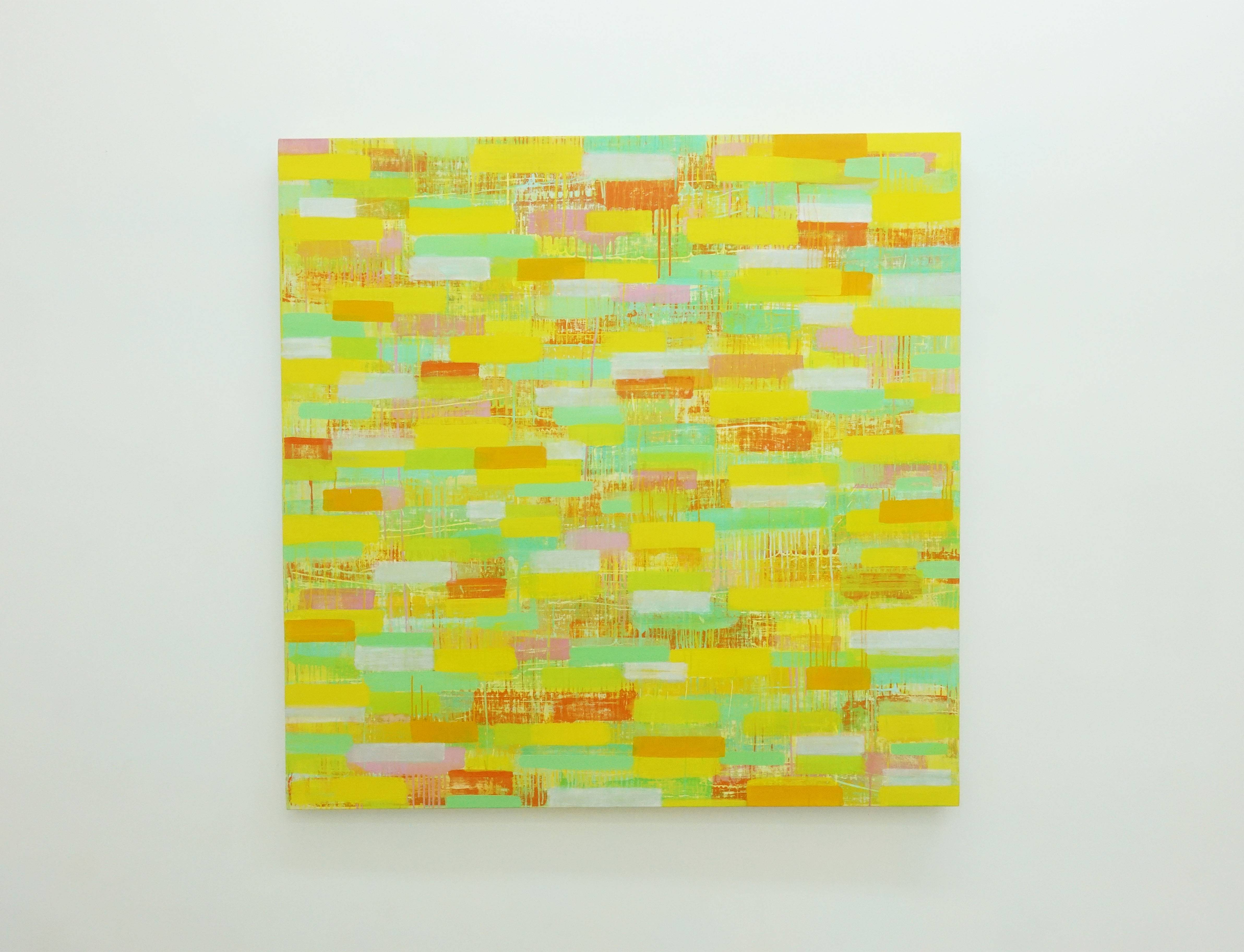 紀嘉華,《經過-3》,127 x 127 cm,油彩 / 亞麻布,2015-2016。
