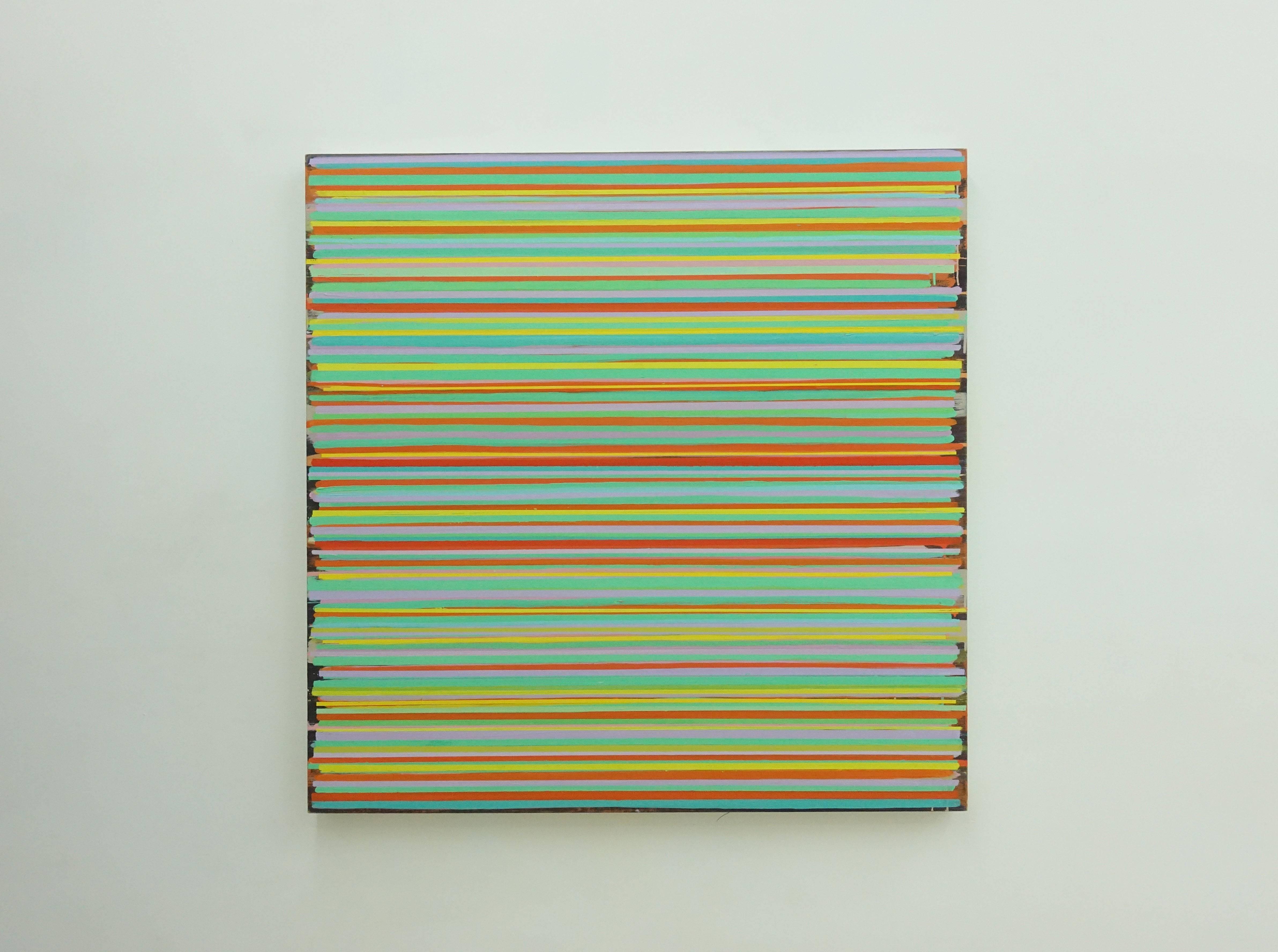 紀嘉華,《時間紀錄者》,107 x 107 cm,油彩 / 亞麻布,2017-2018。