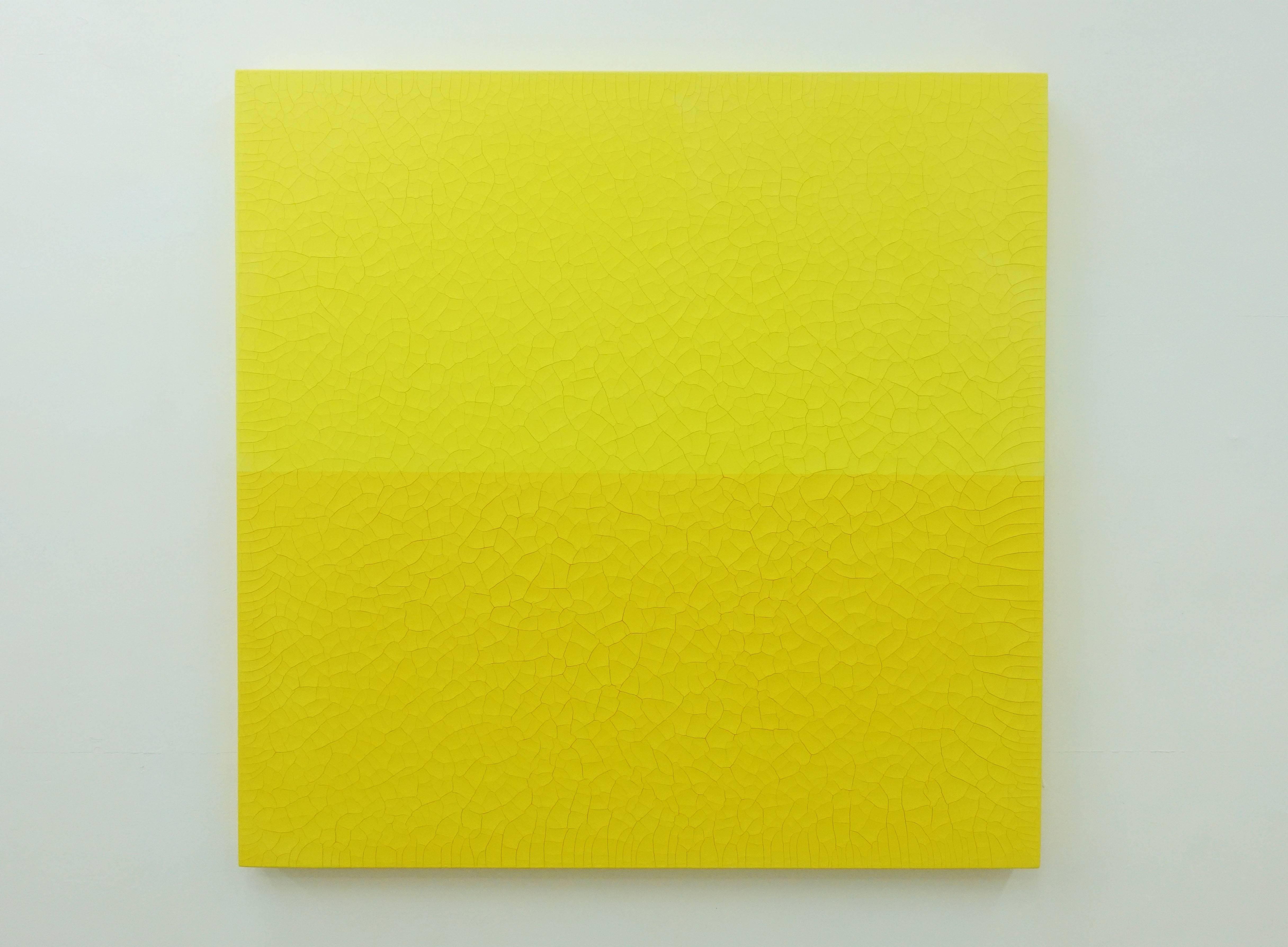 王永衢,《One Hundred Year March》,110 x 110 cm,乳膠漆、廣告顏料、畫布、木板,2019。