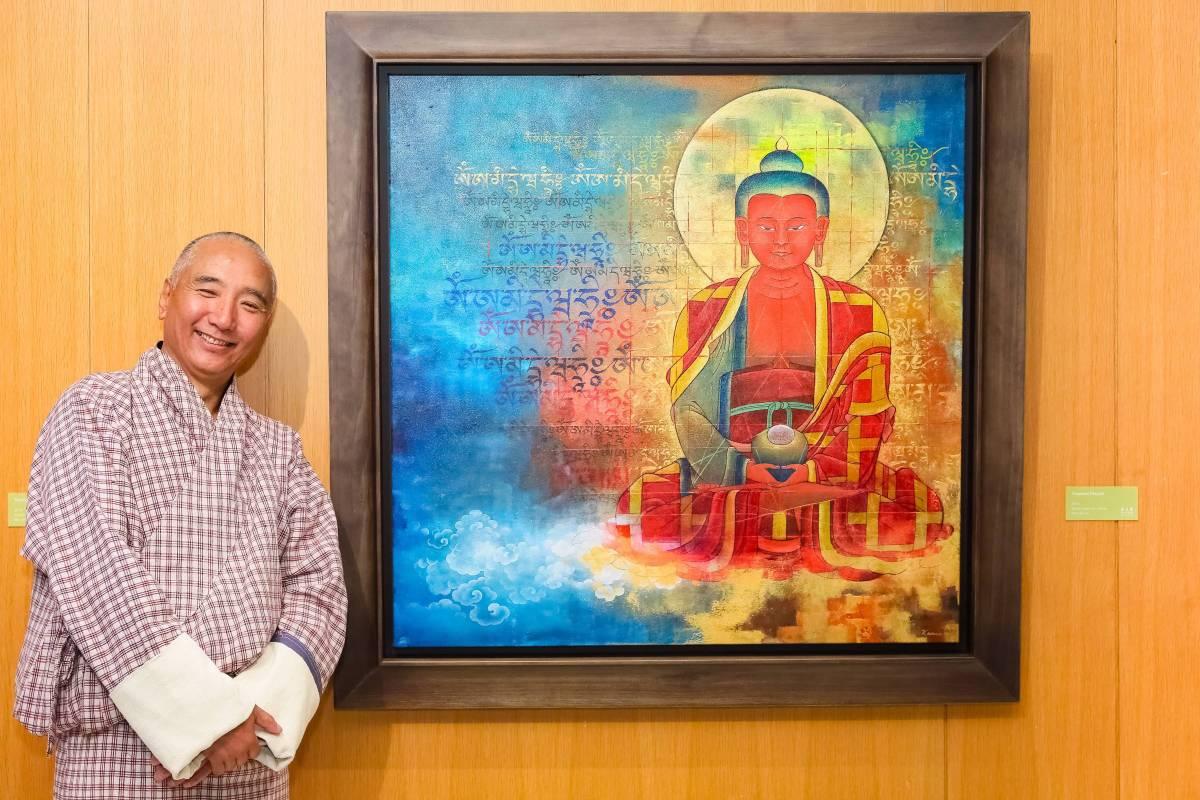 Yoepami Prayers, 2018, mixed media on canvas, 99x99cm