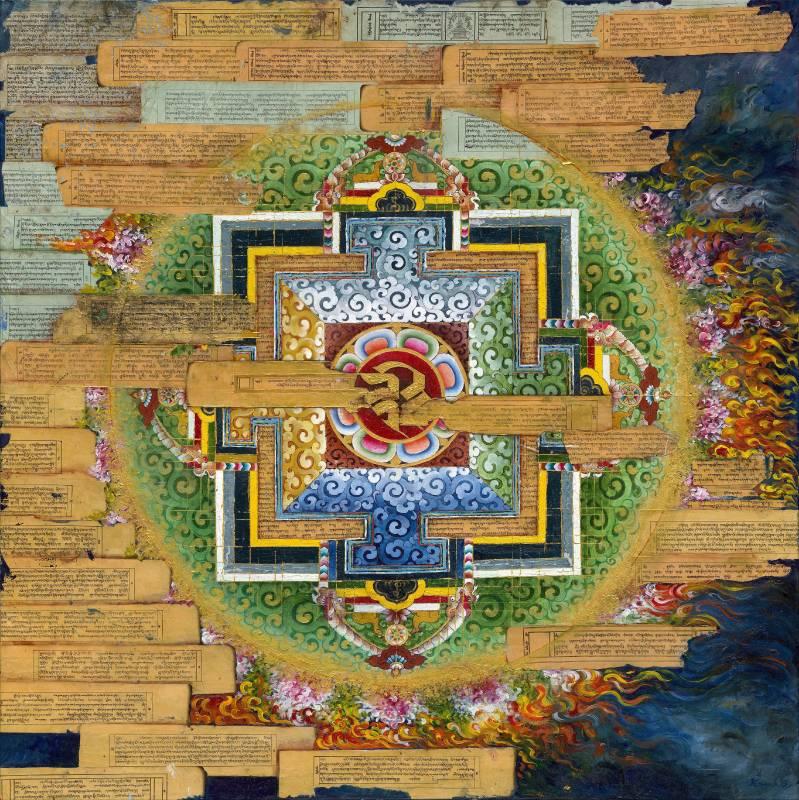 Long Life Mandala, 2019, acrylic on canvas, 122x122 cm