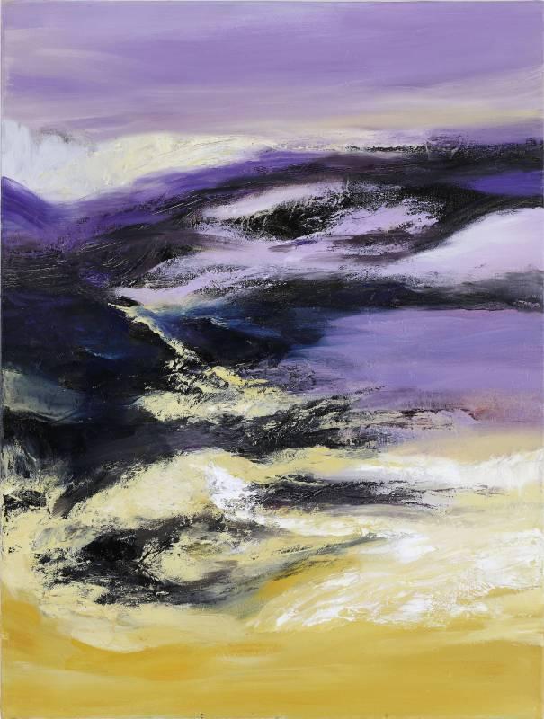 塵三 Chen San ,郝山 Good Mountain,  油畫 Oil on canvas ,80x60.5cm ,2018
