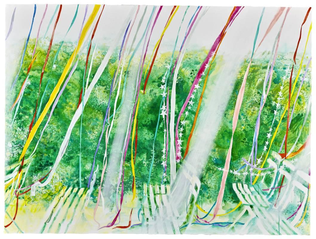 曾麟媛 Lin-yuan Zeng_拂略嘩而止_112 x 150_壓克力、畫布Acrylic on canvas_2018