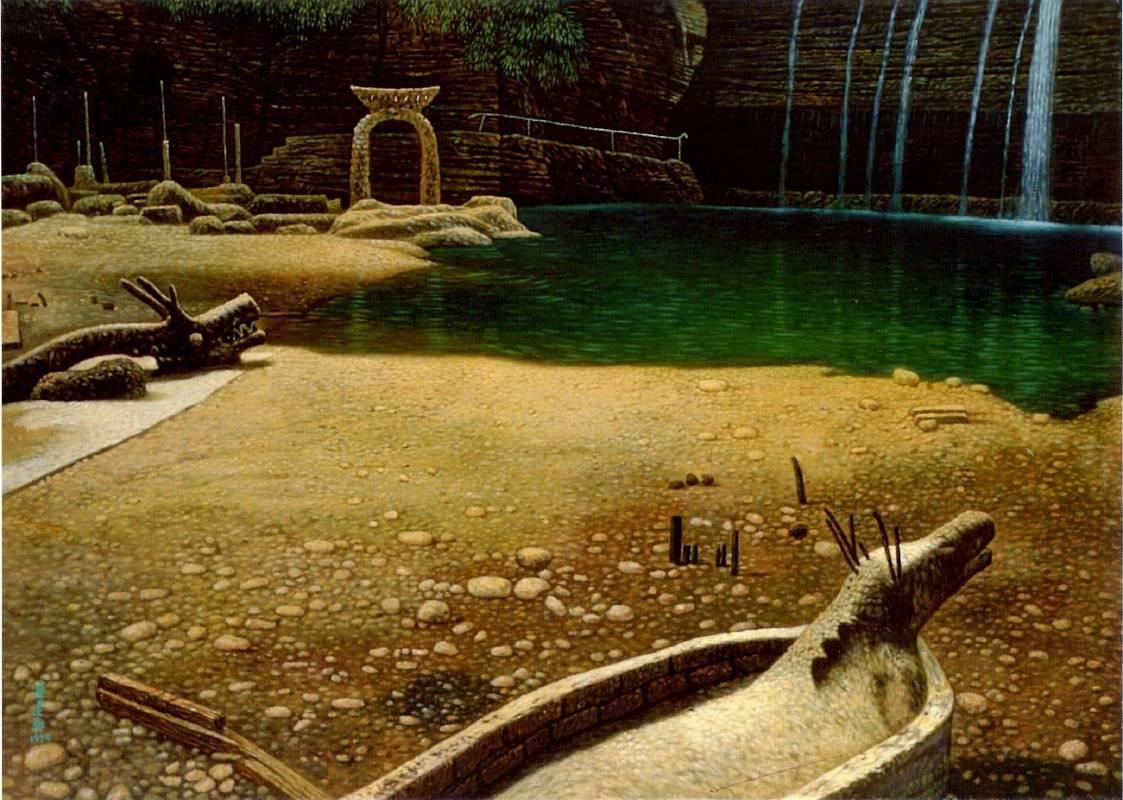 連建興|夢土|1994|油彩|66x91cm