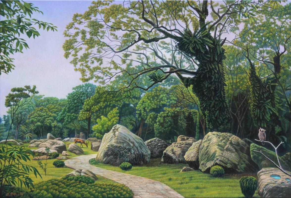 連建興|歡喜森林|2014|油彩|91x116.5cm