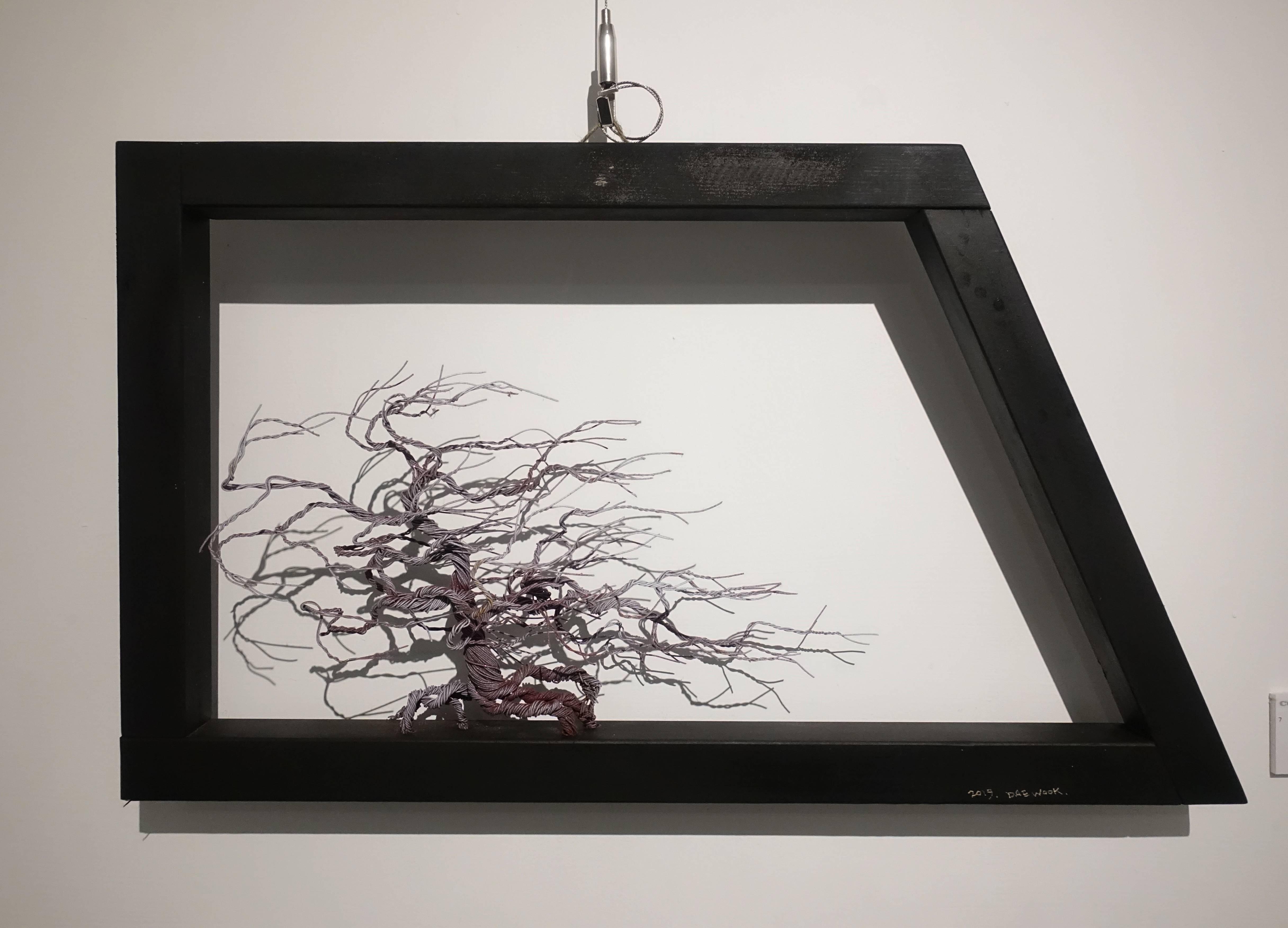 金大煜Kim Dae Wook,《血管》,鋼線、木頭。