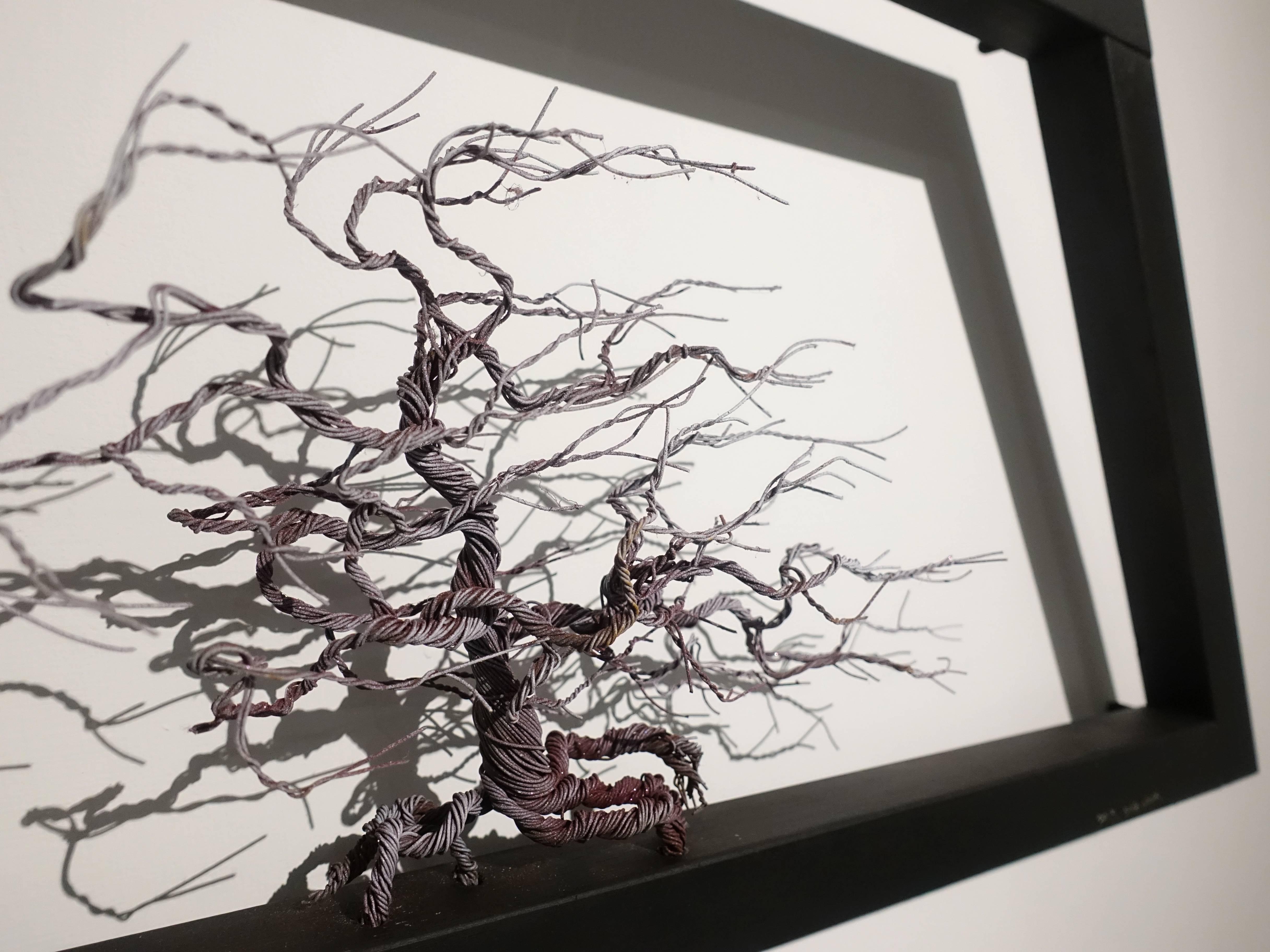金大煜Kim Dae Wook,《血管》細部,鋼線、木頭。