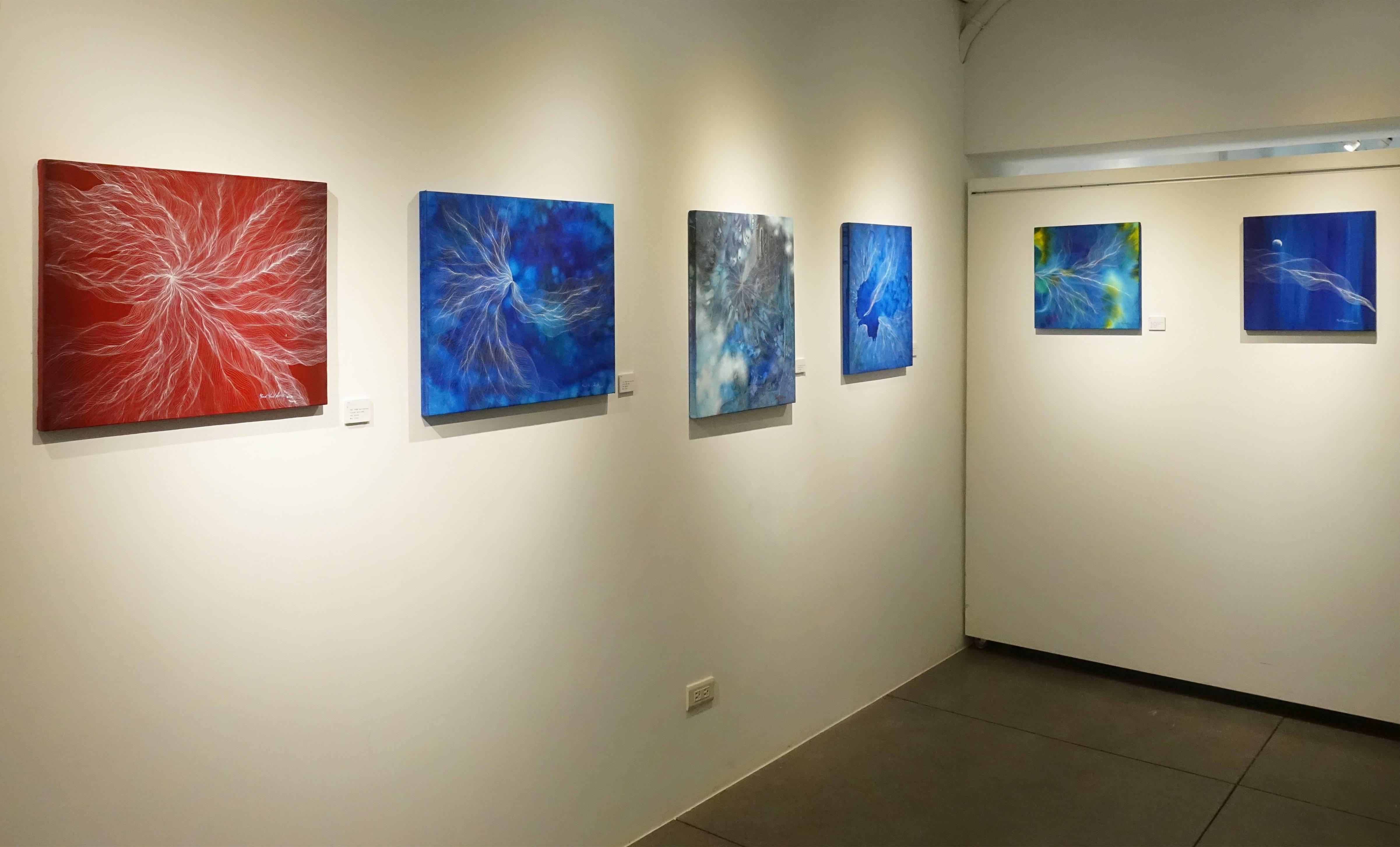 尹潤德Yoon yoon duck平面繪畫作品系列。