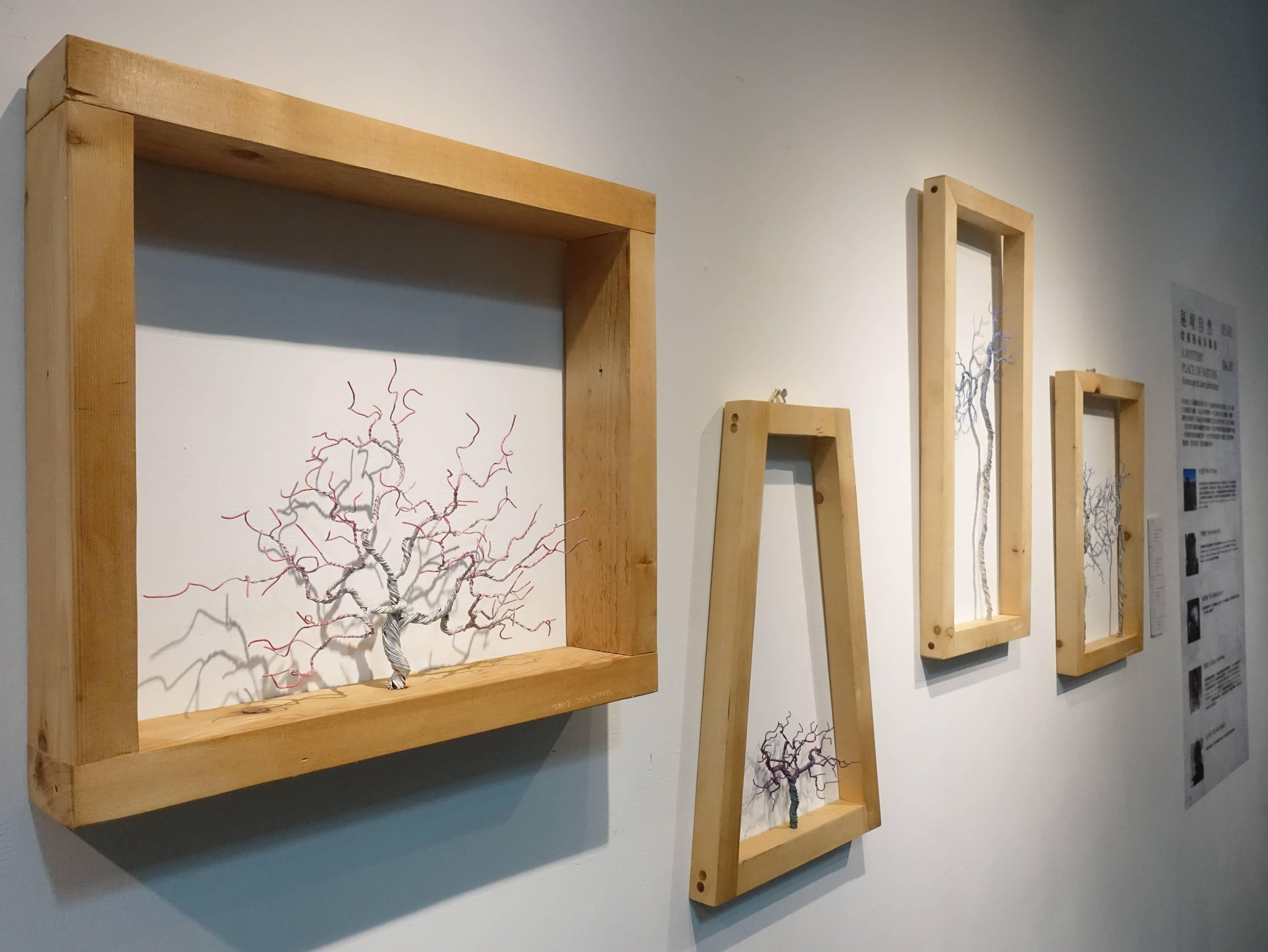 金大煜Kim Dae Wook,鋼線、木頭作品系列。