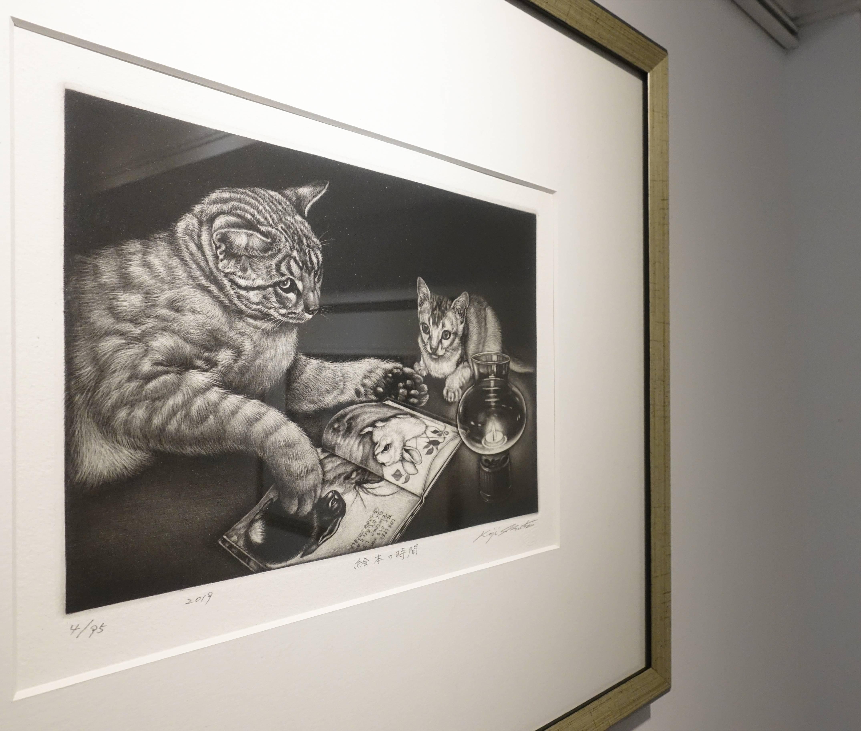 生田宏司,《繪本時間》,美柔汀銅版,2019。