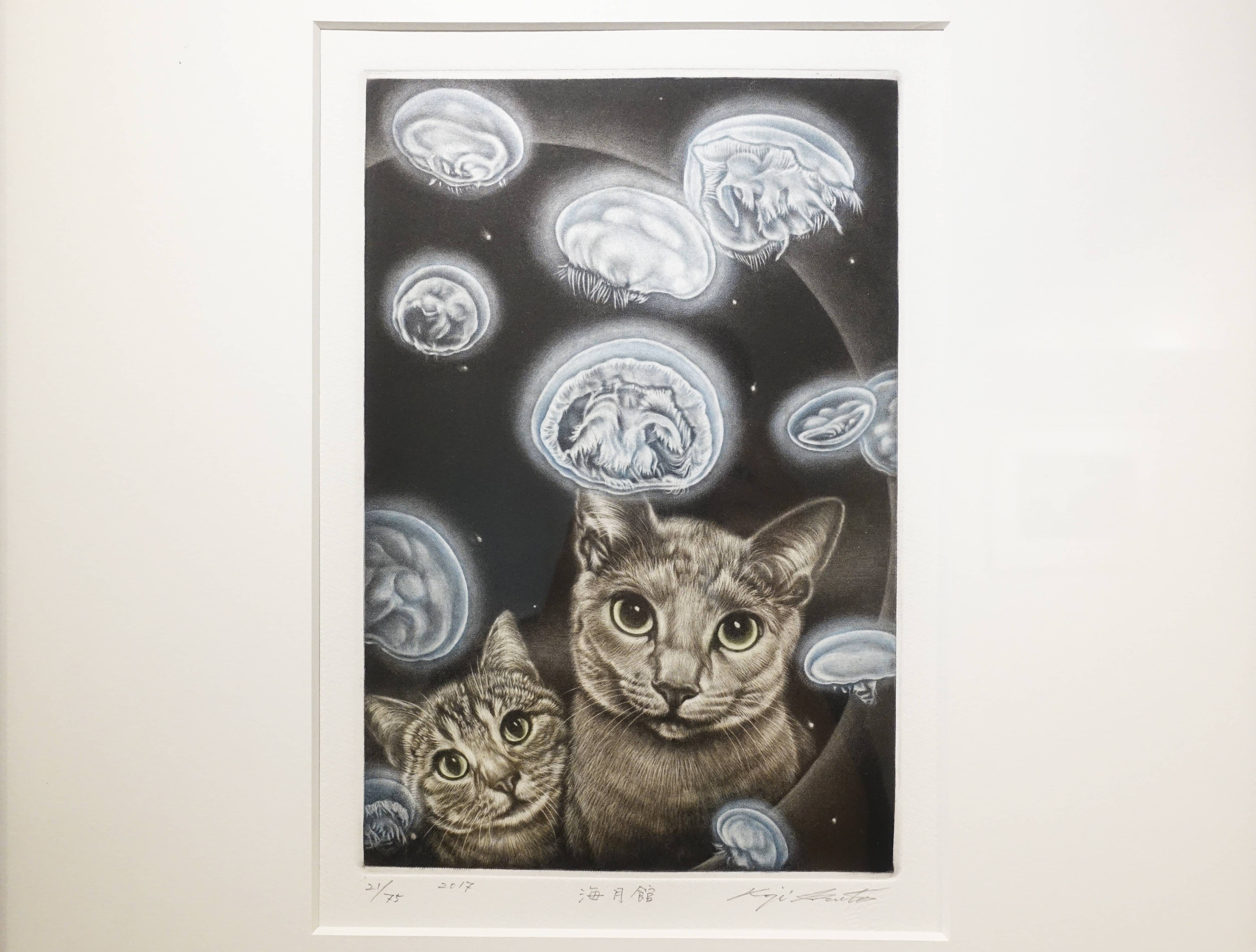 生田宏司,《水母館》,美柔汀銅版,2017。