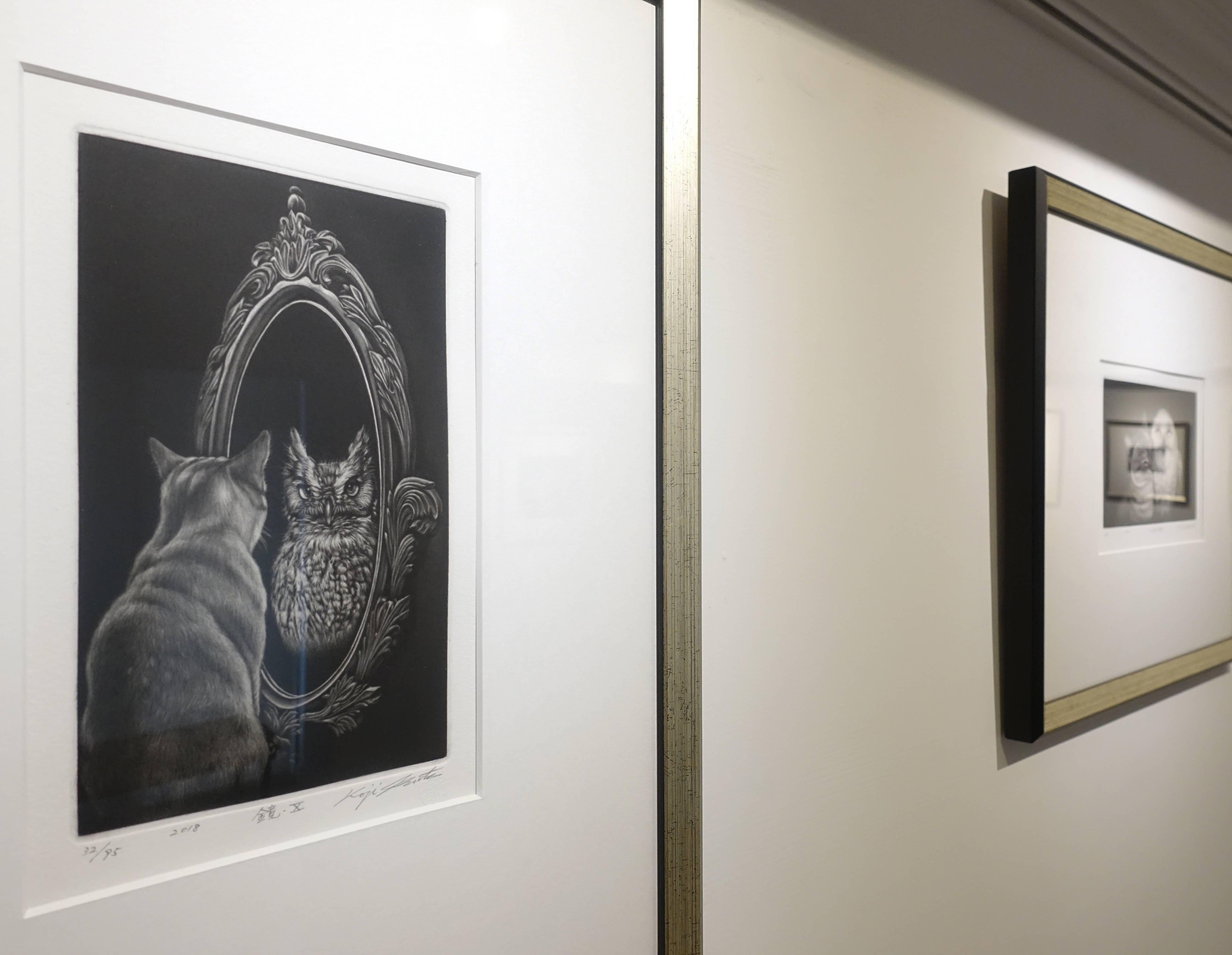 生田宏司,《鏡子10》,美柔汀銅版,2018。