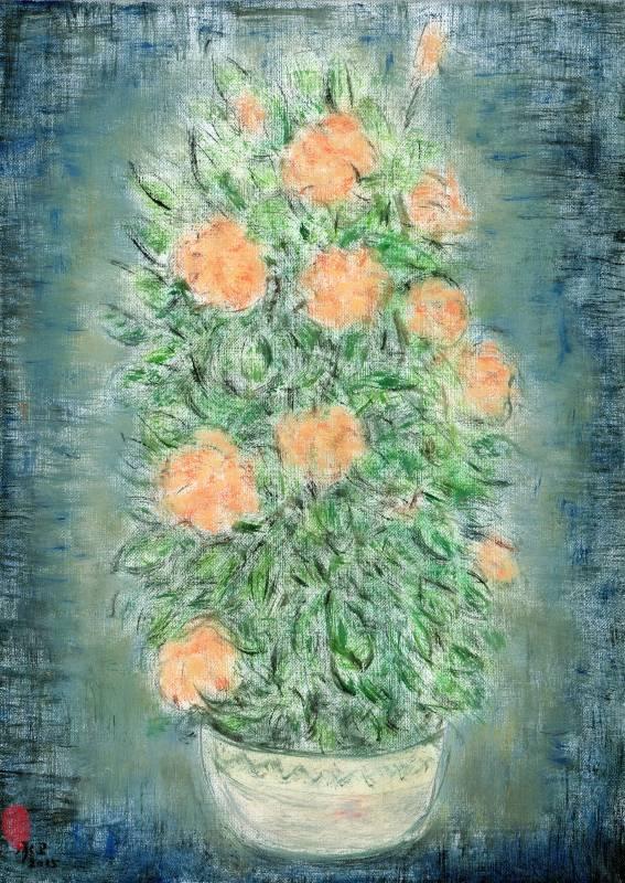 盆花-3 Potted Beauty-3 40x30cm 油畫、畫布 Oil on canvas 2015