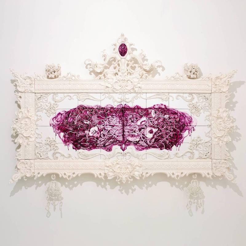 青木 克世  Katsuyo AOKI | MANIERA I | 白瓷Porcelain | 162 × 207 × 18 cm | 2009