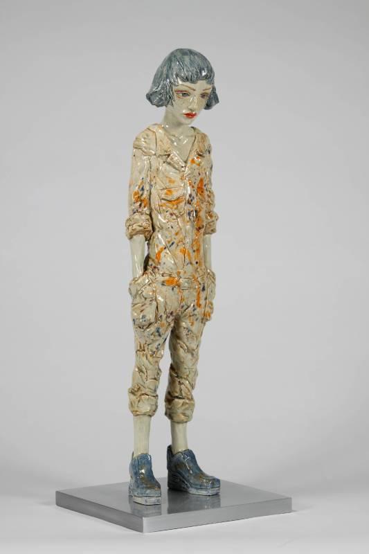 北川 宏人 Hiroto Kitagawa | 46 x 10 x 10 cm | 赤陶、壓克力顏料Terracotta, Acrylic paint | 2019
