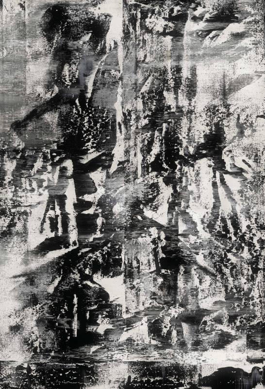 黃騰輝 Robert Huang_心之韻律-山水編號35 Landscape No 35_壓克力、畫布 Acrylic on Canvas_162x113cm_2018