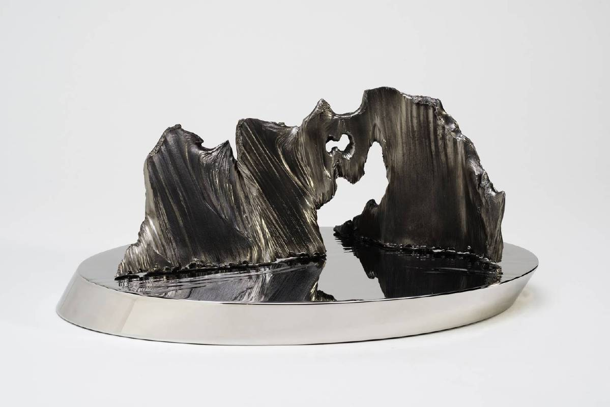 宋璽德 Sung Hsite_小島系列-1號礁 Little Island Series-No.1 Reef_鋼、不鏽鋼 Steel, stainless steel_43x23x29cm_2015