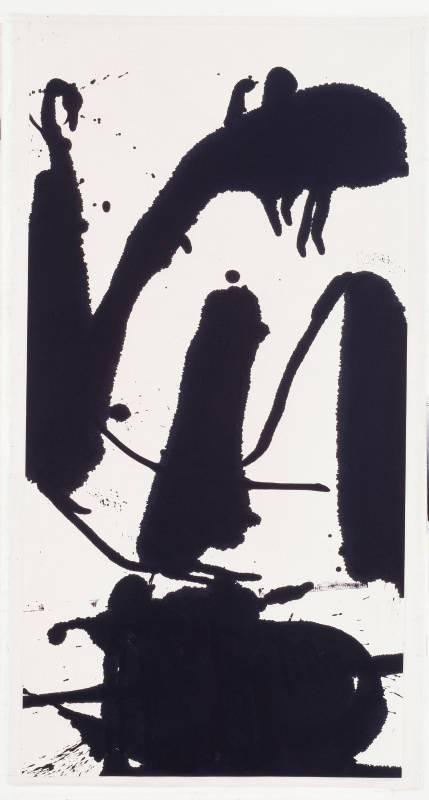 陳幸婉 Chen Hsing-Wan,〈作品AC199〉Work AC199,1994,水墨、紙本Ink on paper,137x70cm