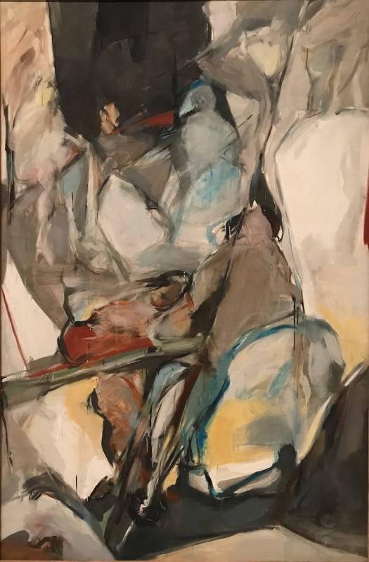 李錦繡 Li Jiin-Shiow,〈都會剪影〉Silhouette of the City,1985,油彩、畫布Oil on canvas,179x119cm