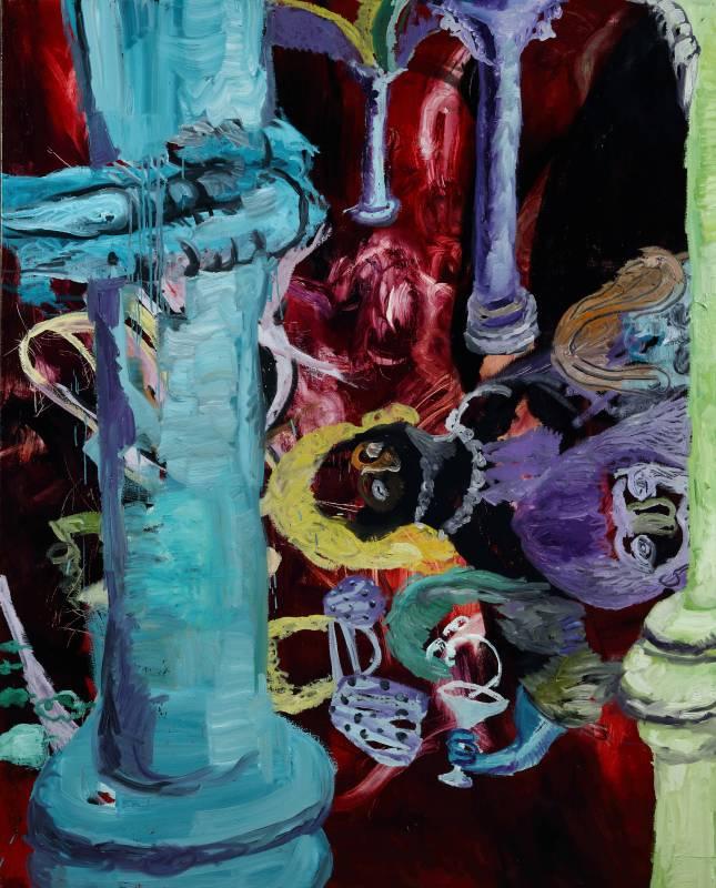常陵|羅馬柱廳|2016|油彩| 162x130cm