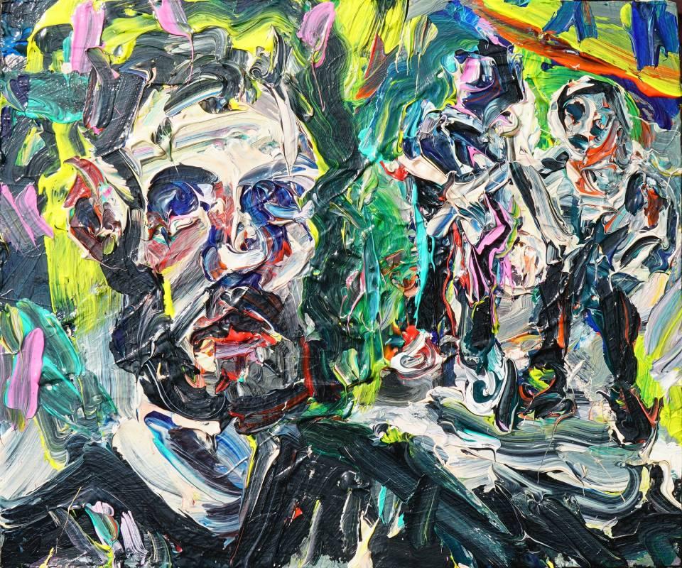 Self-portrait 自畫像 . 壓克力 木板 40x48cm