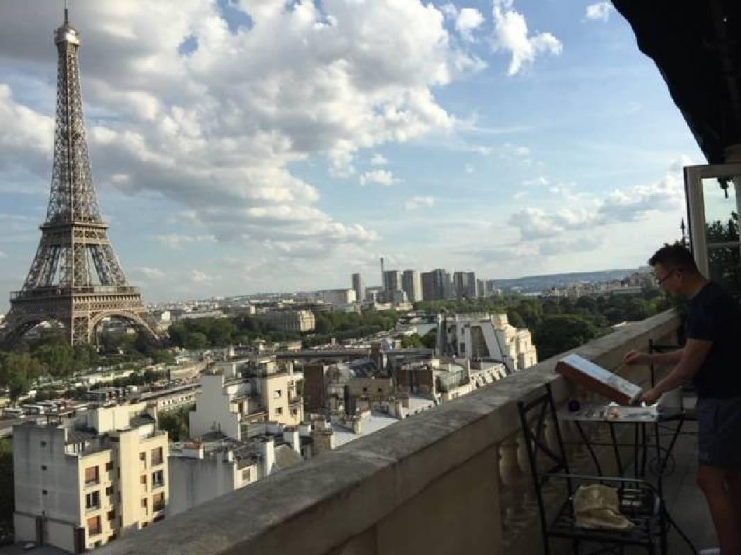 巴黎寫生一景。