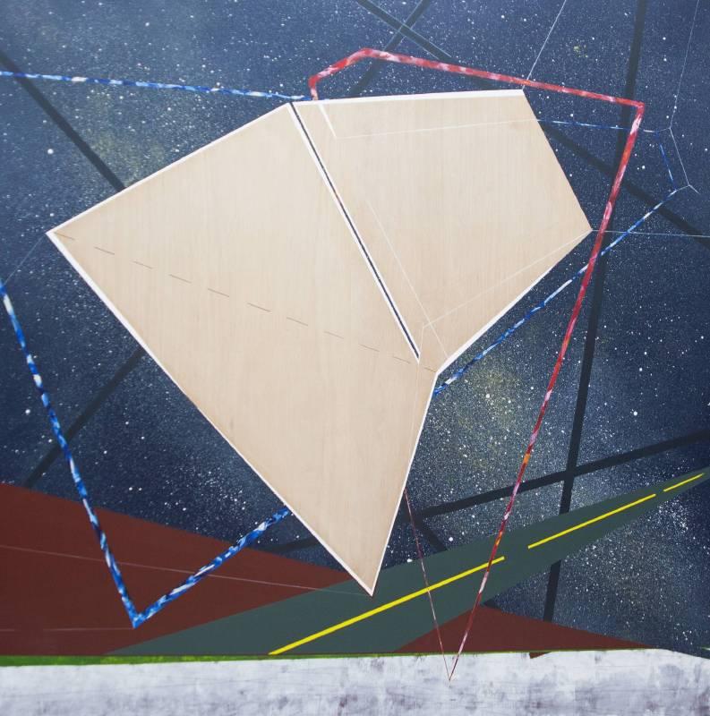 《移植∞繁殖計畫21》木板、壓克力、鉛筆、炭精筆150x150x5cm,2019