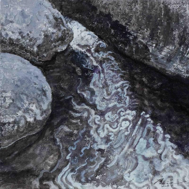 侯俊杰|上善若水·聞水 NO.2|2018|布面油畫|30x30cm