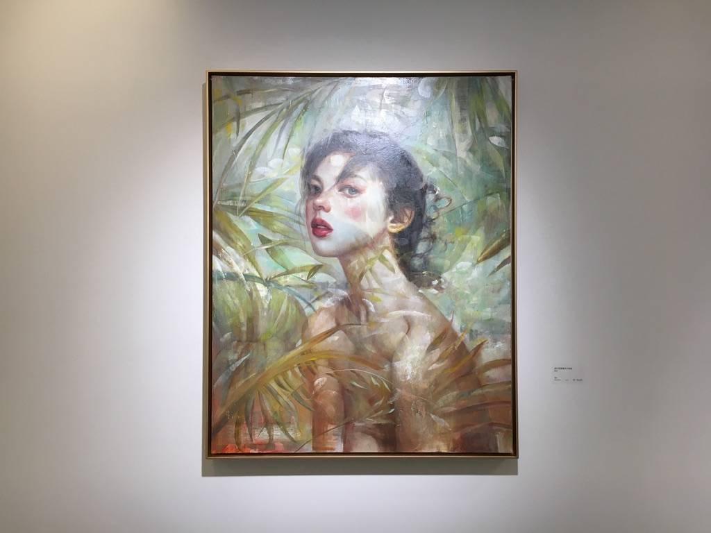 梁月,《虛幻與真實的平衡點》,91 x 72.5 cm,油彩,2018。