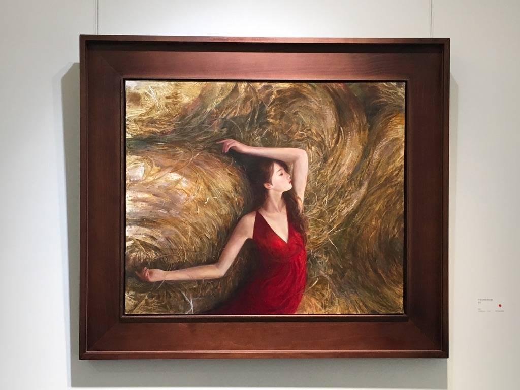 梁月,《不符比例的存在感》,72.5 x 60.5 cm,油彩,2019。