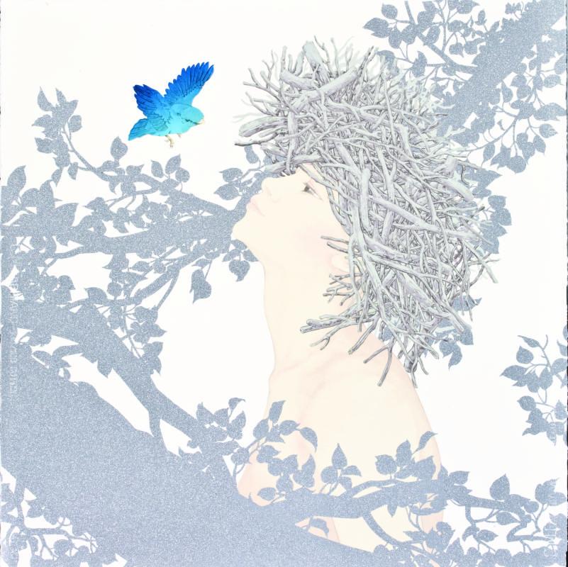 許維頴Flying_絹印Silkscreen_70×70cm_2013