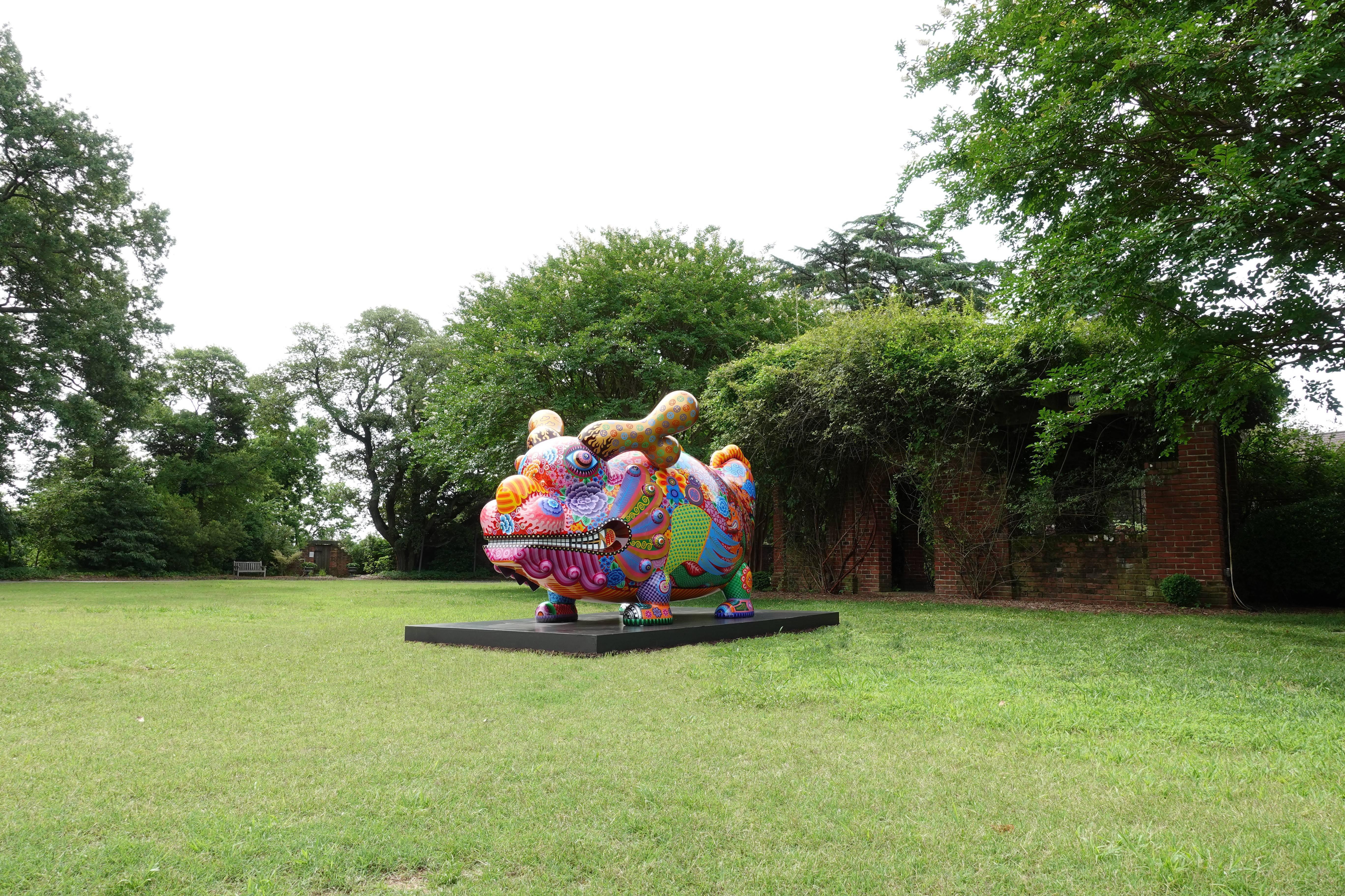 「福龍」展於美國冬宮美術館現場。圖/印象畫廊提供