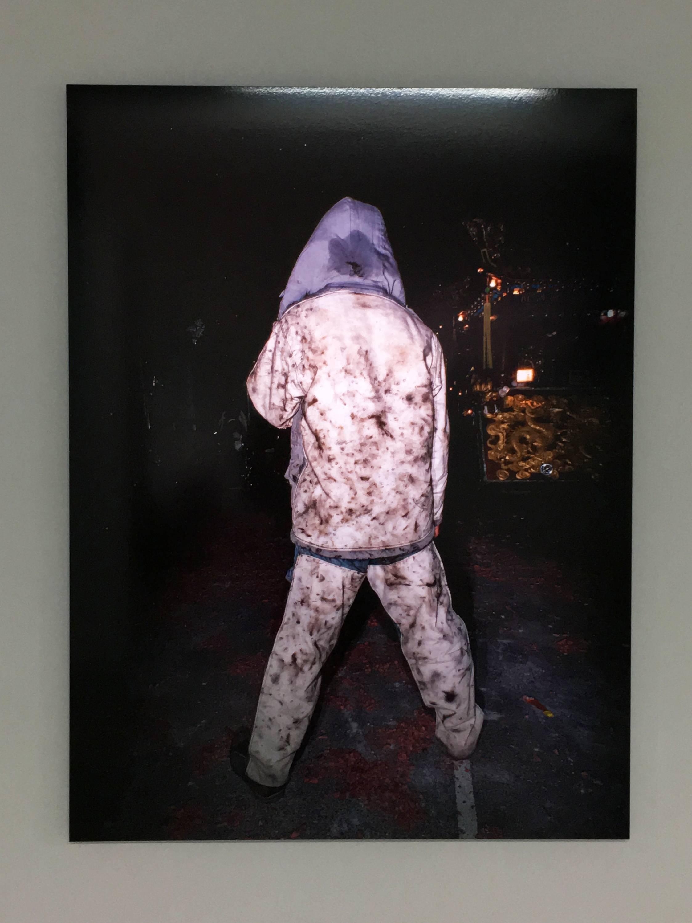 陳伯義,《食砲人 - V》,75 x 100 cm,雷射輸出彩色銀鹽相紙,1/8,2014。