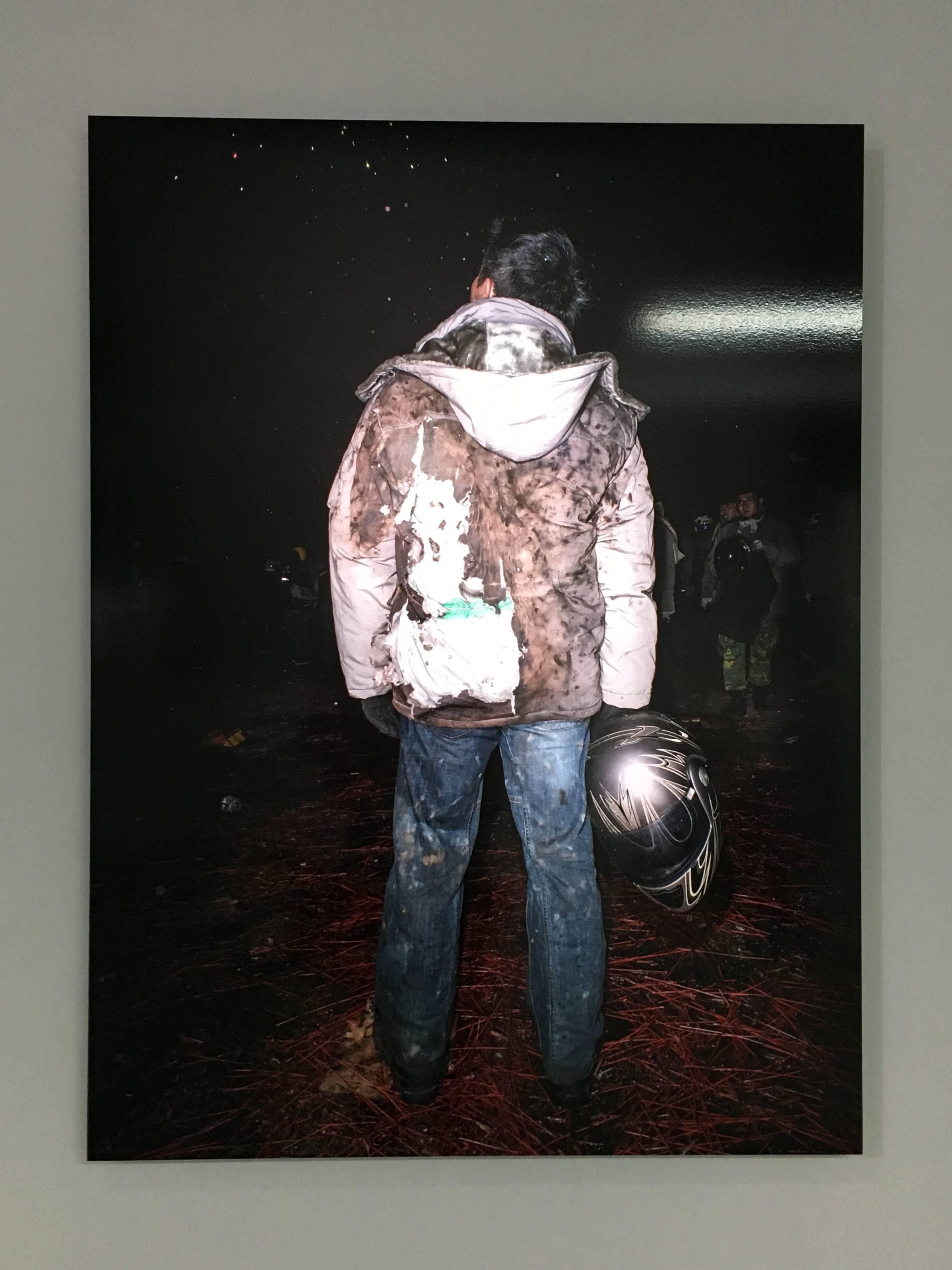 陳伯義,《食砲人 - VI》,75 x 100 cm,雷射輸出彩色銀鹽相紙,1/8,2014。