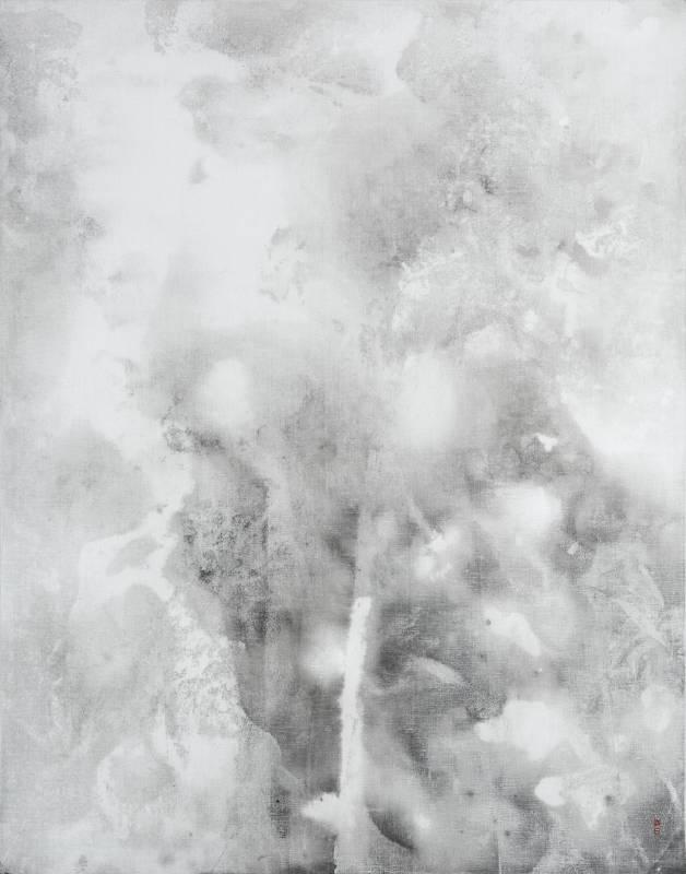 陳正隆|竹石圖1901|50F|墨、壓克力彩