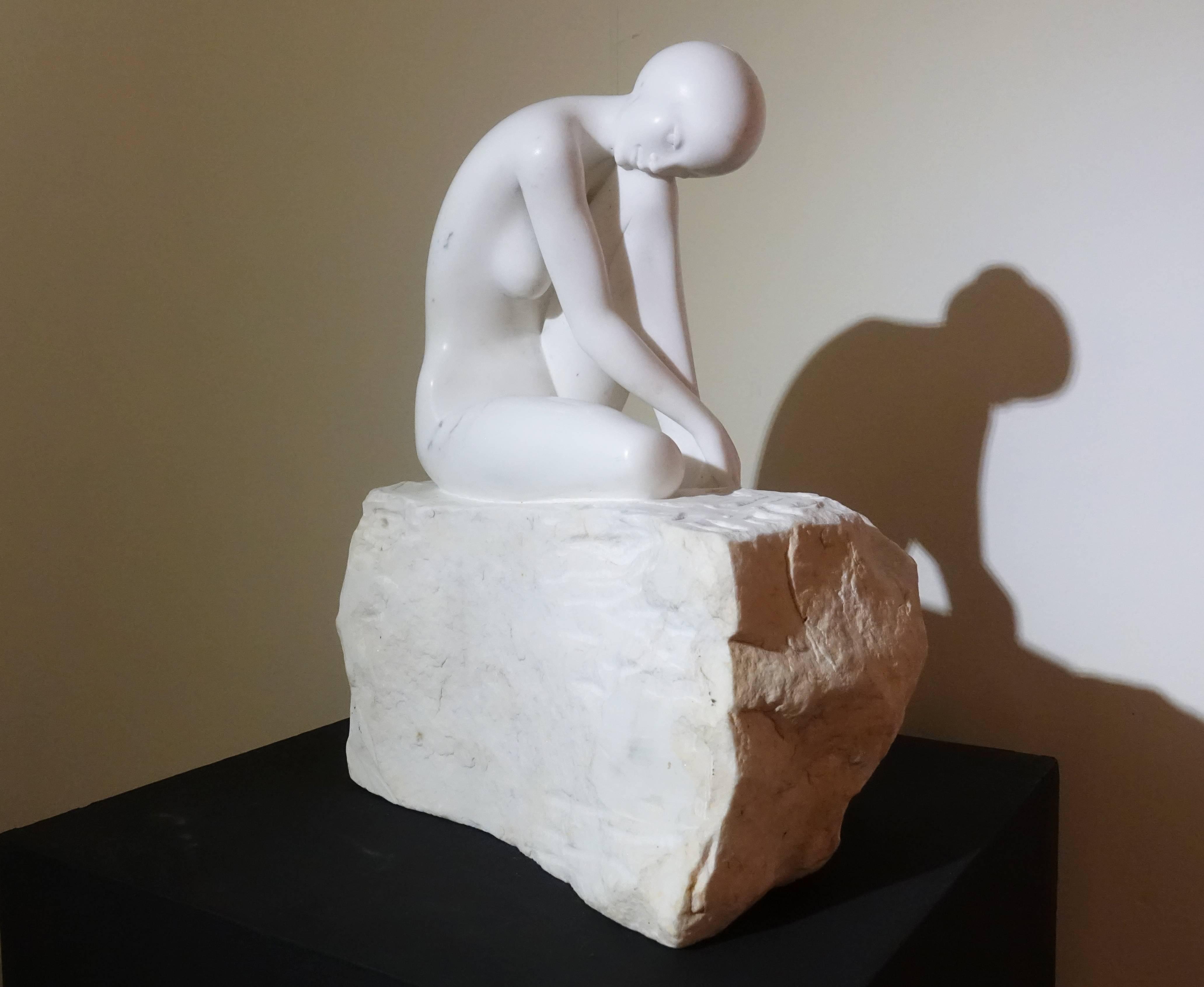 張國榮,《沉酣》,45 x 40 x 60 cm,卡拉拉大理石,2013。
