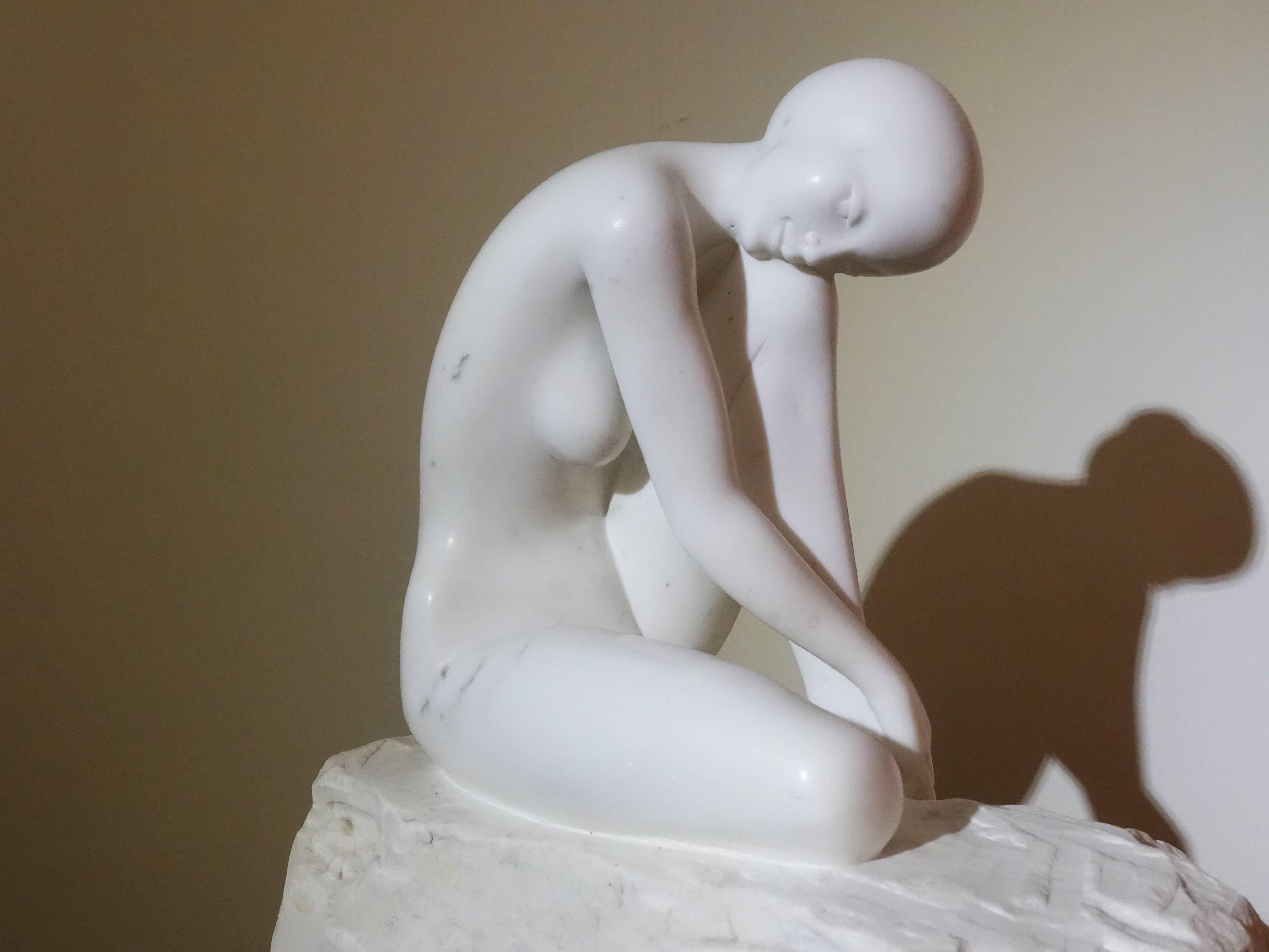 張國榮,《沉酣》細節,45 x 40 x 60 cm,卡拉拉大理石,2013。