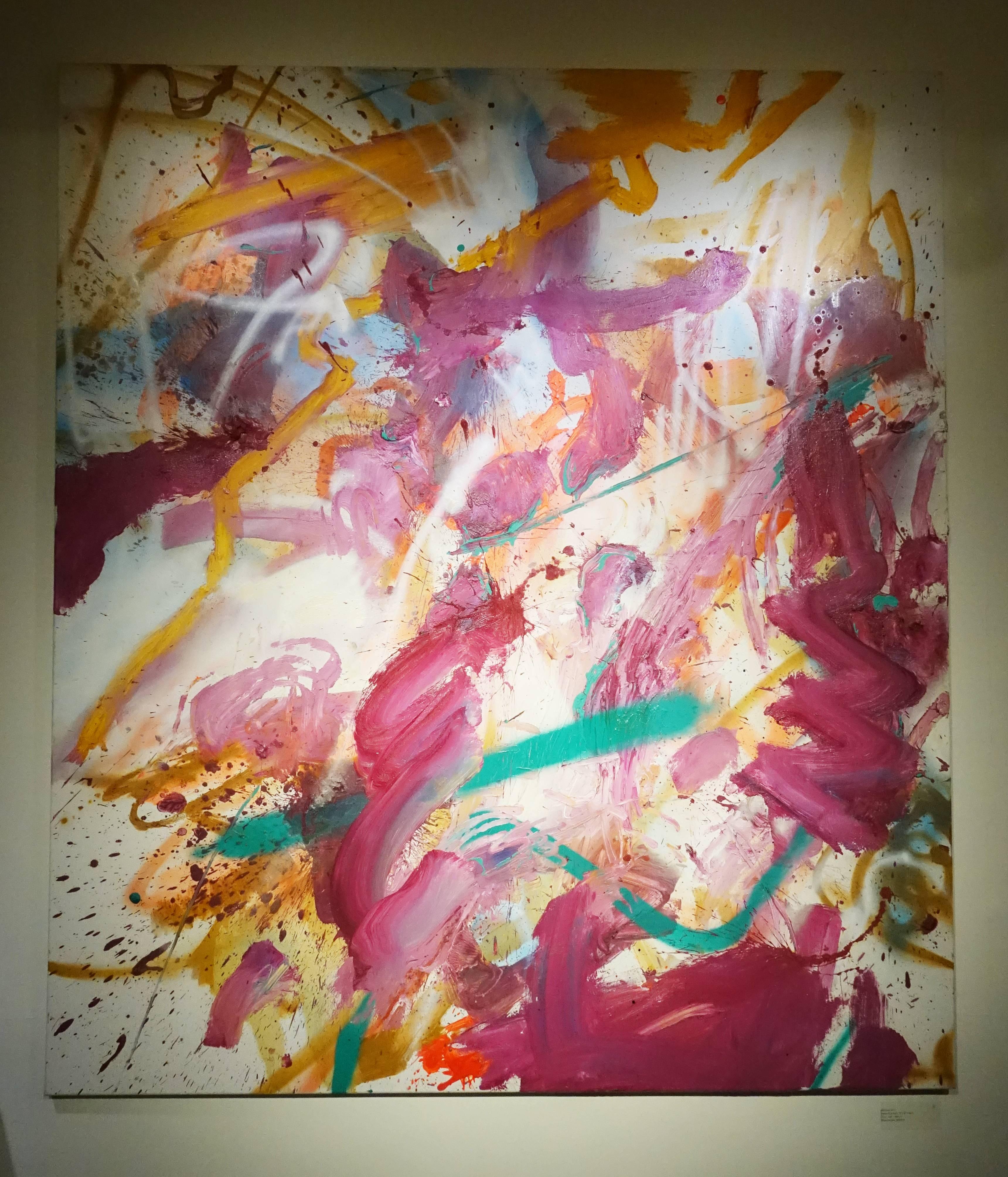 馬可.史卡佩利,《Abstract》,160 x 140 cm ,複合媒材,2016。