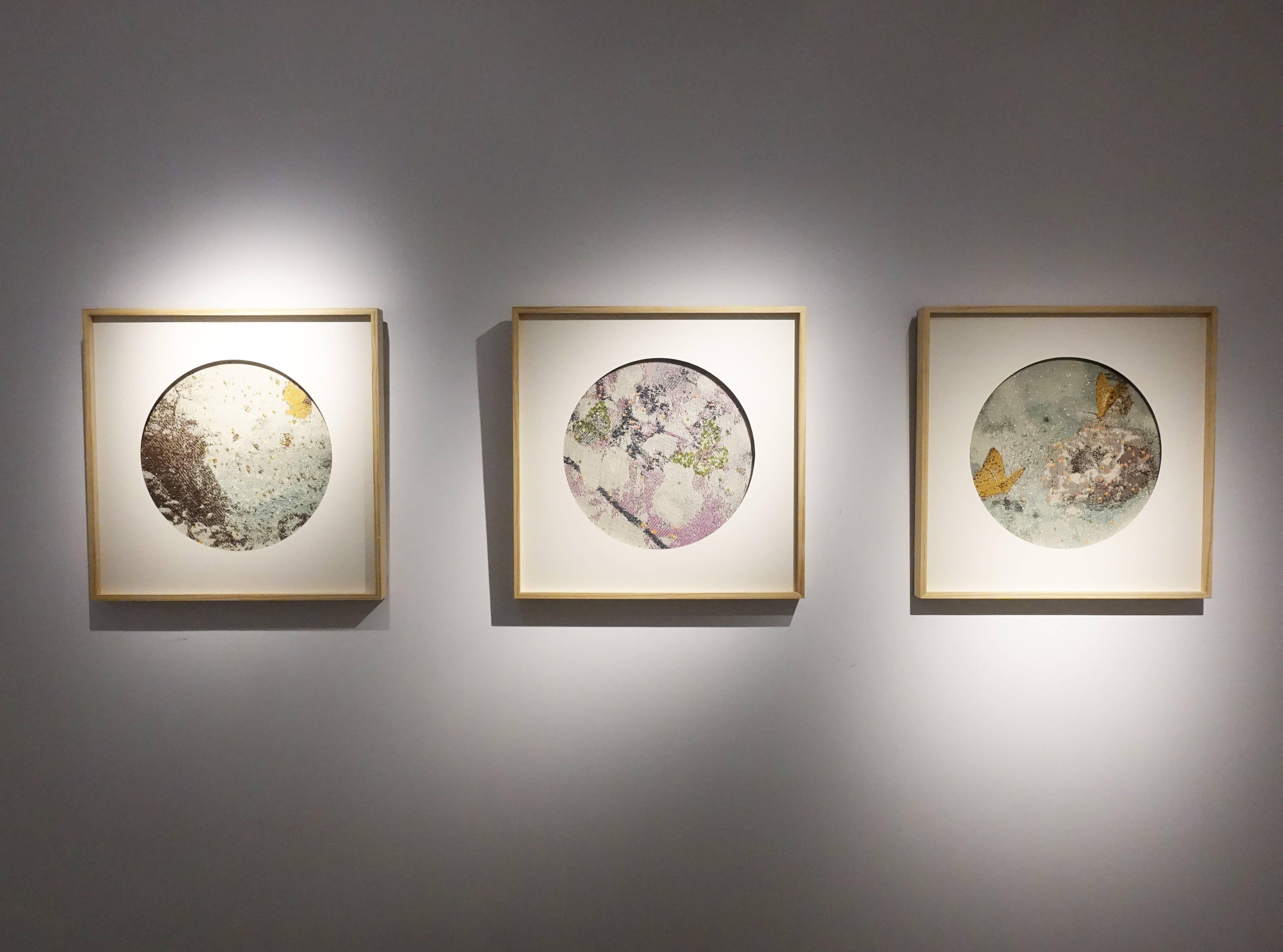 李偵綾《解舞》《尋花》《縈紆》作品 (由左至右)。