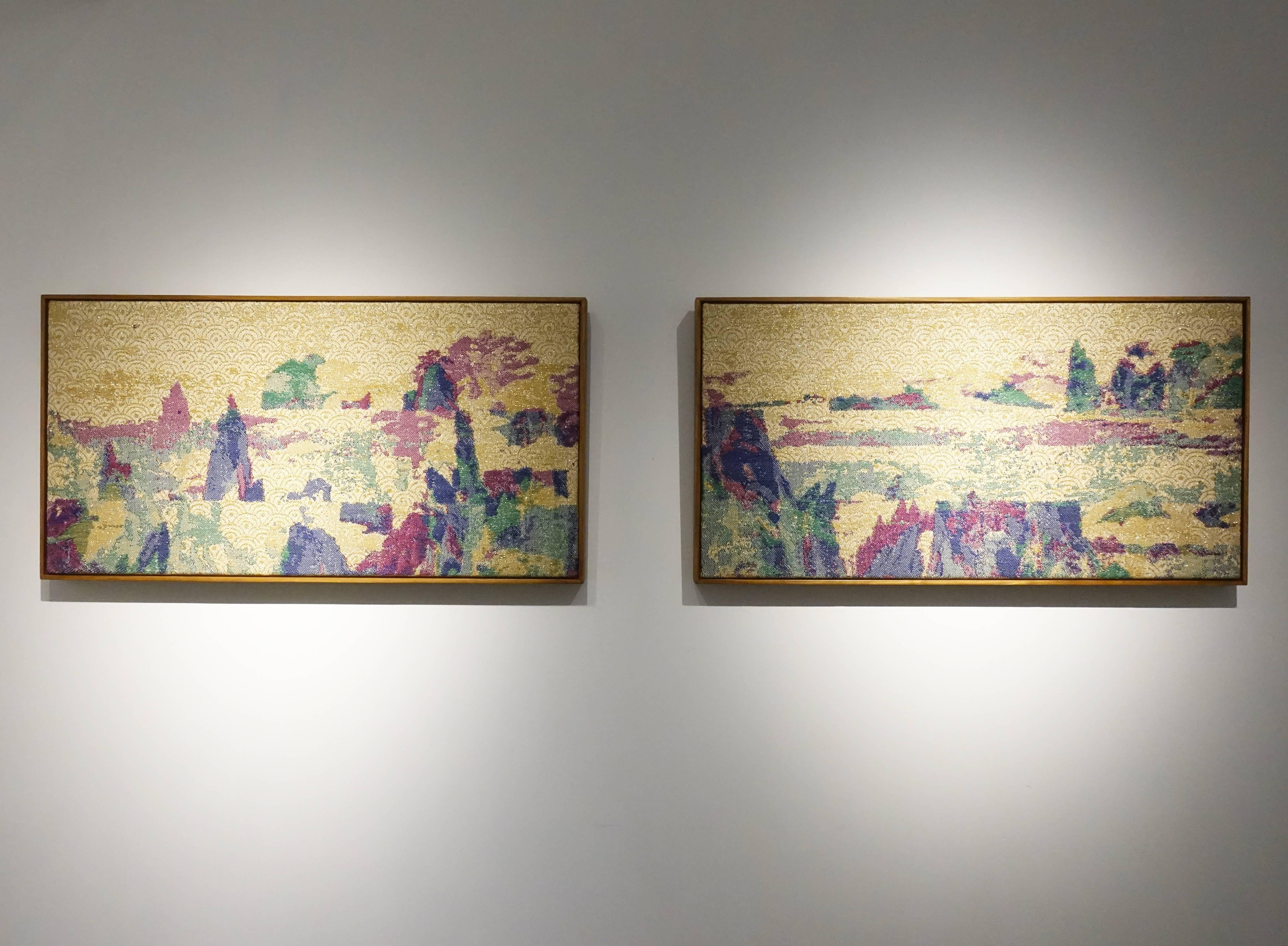 李偵綾,《變奏仙山》,180 x 46 cm,棉、人造纖維,2019。